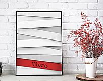 Grafika - Viera - art print autorskej ilustrácie - 11982822_