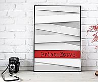 Obrázky - Priateľstvo - art print autorskej ilustrácie - 11982841_