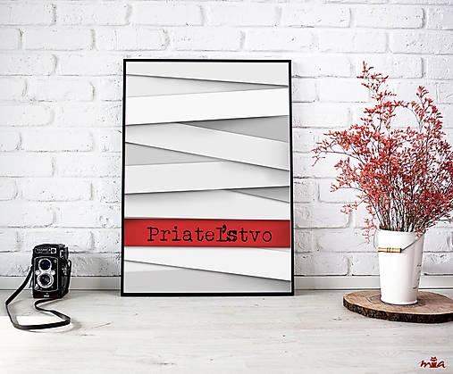Priateľstvo - art print autorskej ilustrácie