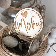 Darčeky pre svadobčanov - Menovky na stol - 11987163_