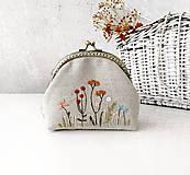Peňaženky - Peňaženka XL Lúčne rastlinky - 11983454_