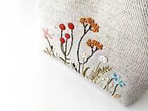 Peňaženky - Peňaženka XL Lúčne rastlinky - 11983455_