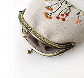 Peňaženky - Peňaženka XL Lúčne rastlinky - 11983456_