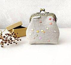 Peňaženky - Peňaženka Pastelové bodky - M - 11983483_
