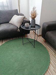 Úžitkový textil - Okrúhly háčkovaný koberec Eukalyptus - 11982762_