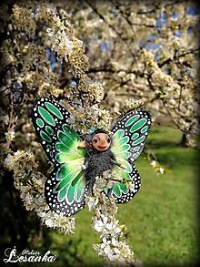 Dekorácie - Motýlia víla zelená - 11991631_