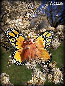 Dekorácie - Motýlia víla žltá - 11991653_
