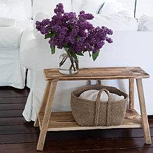 Nábytok - lavica s poličkou - 11991990_