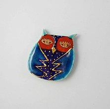 Odznaky/Brošne - TANA hand made jewellery - keramika/zlato - 11988786_