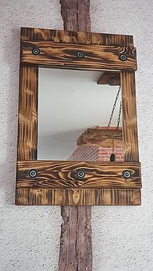 Zrkadlá - Rustikalne zrkadlo okenica - 11989113_