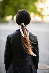Ozdoby do vlasov - Elegantný Zajko hnedosateńový - 11991176_