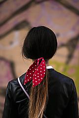 Ozdoby do vlasov - Zajko saténovobodkový - 11991269_