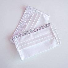 Rúška - Svadobné dvojvrstvové rúško - biele - pre nevestu - 11989653_