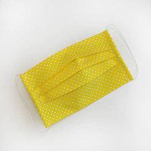 Rúška - DVOJVRSTVOVÉ bavlnené rúško na tvár -  žlté - 100% bavlna - textilné - rúška - 11989688_