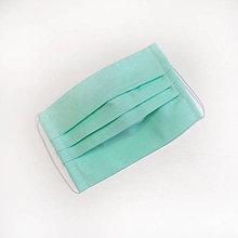 Rúška - DVOJVRSTVOVÉ mentolové bavlnené rúško na tvár - 100% bavlna - textilné - rúška - 11989748_