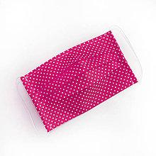 Rúška - DVOJVRSTVOVÉ bavlnené rúško na tvár - 100% bavlna - textilné - rúška - 11989755_