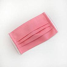 Rúška - DVOJVRSTVOVÉ bavlnené rúško na tvár - 100% bavlna - textilné - rúška - 11989756_