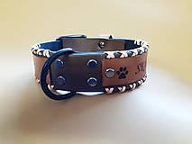 Pre zvieratká - Obojok pre psíka šitý s remienkami - 11989575_