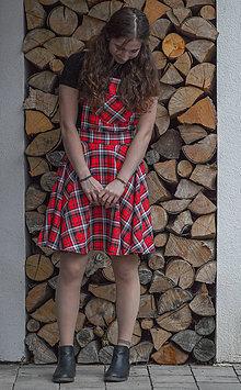 Šaty - Károvaná šatová sukňa - 11988923_