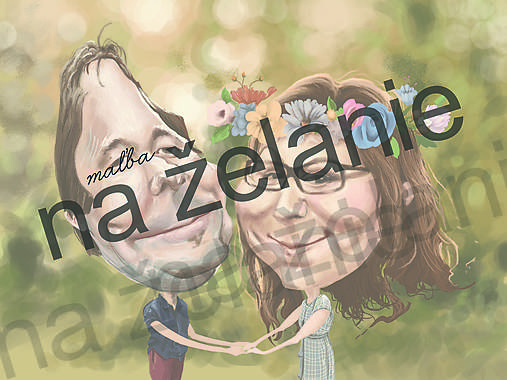 Karikatúra na želanie-svadba