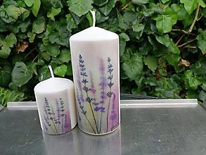 Svietidlá a sviečky - levanduľová sada 1 - 11991219_