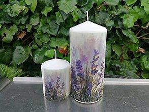 Svietidlá a sviečky - levanduľová sada 2 - 11991255_