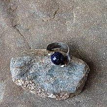 Prstene - Cínovaný prsteň pretočený - Modrý avanturín - 11995361_