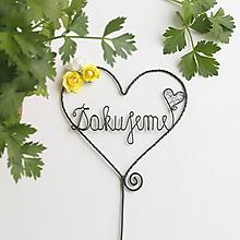 Dekorácie - srdiečko - poďakovanie rodičom, učiteľke... (Žltá) - 11993165_
