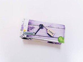 Peňaženky - Peňaženka levanduľová digitálna potlač - 11993680_