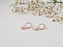 Náušnice - Oválne náušnice s perlami - 11995769_