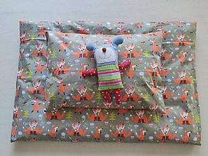 Textil - VLNIENKA Detské obliečky do postieľky na mieru  100% bavlna francúzska FOX grey Líštičky šedé - 11993391_