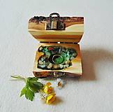 Krabičky - Drevená krabička na prsteň Čarovné polienko - 11994484_