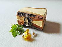 Krabičky - Drevená krabička na prsteň Čarovné polienko - 11994489_