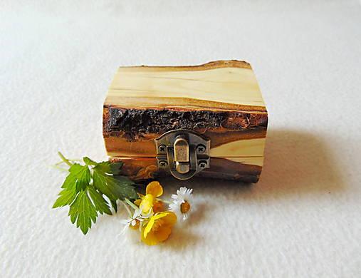 Drevená krabička na prsteň Čarovné polienko