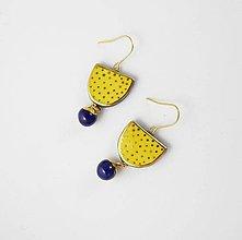 Náušnice - TANA hand made jewellery - keramika/zlato - 11993392_