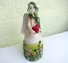 """Bábiky - """"Lúčny anjelik"""" - maľovaný zvonec - 11993803_"""