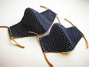 Rúška - Detské tvarované RÚŠKO s drôtikom (hviezdičky na modrej) - 11994085_