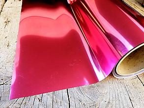 Polotovary - Nažehľovacia fólia metalická - ružová - 11994920_