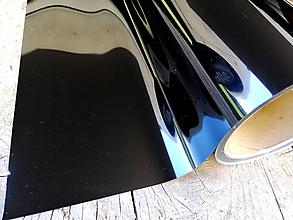Polotovary - Nažehľovacia fólia metalická - čierna - 11994925_