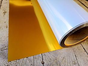 Polotovary - Nažehľovacia fólia metalická - zlatá - 11994929_