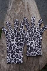 Rukavice - Úpletové rukavice škvrnité - 11995521_