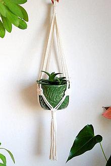 Dekorácie - Makramé držiak na kvetináč // Ďatelina - 11993612_