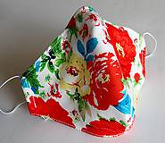 Ochranné rúško 3-vrstvové - abstraktné ruže