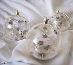 Dekorácie - Čaro Vianoc - strieborná + biela - 11996294_