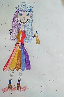 Kresby - Pani z obrazu - 11995346_