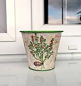 Nádoby - plechový kvetináč na bylinky no.1 - 11996303_