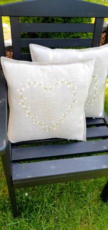 Úžitkový textil - Ľanové vankúše- zelená záhrada - 11994080_