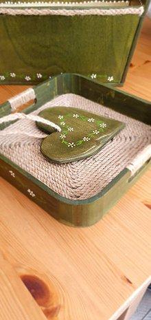 Nádoby - Tácka - zelená záhrada - 11994812_