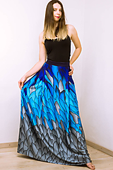 Sukne - Maxi sukňa Ľadový drak - 11996271_