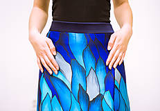 Sukne - Maxi sukňa Ľadový drak - 11996272_